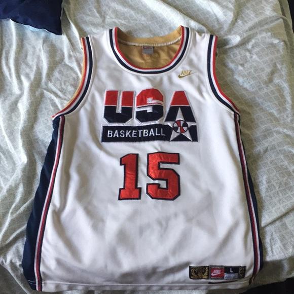 size 40 39618 af8ed Magic Johnson Team USA Jersey. Stitched.
